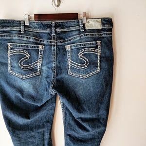 Silver Suki Thick Stitch Bootcut Jeans Sz 20 x 30
